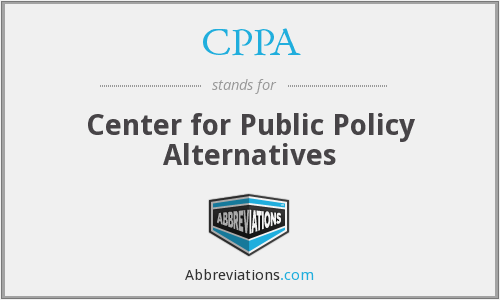 CPPA - Center for Public Policy Alternatives