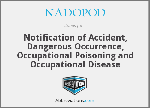 What does NADOPOD stand for?