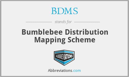 BDMS - Bumblebee Distribution Mapping Scheme