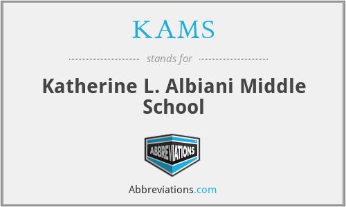 KAMS - Katherine L. Albiani Middle School