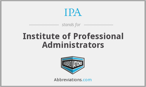 IPA - Institute of Professional Administrators