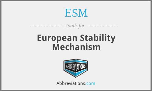 ESM - European Stability Mechanism