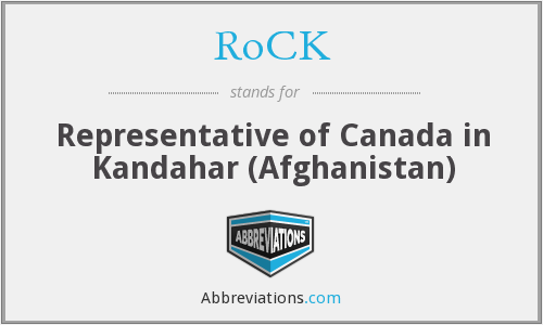 RoCK - Representative of Canada in Kandahar (Afghanistan)