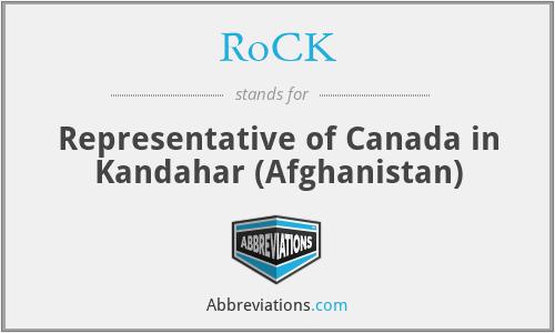 RoCK - Representative of Canada in Kandahar (Afghanistan)