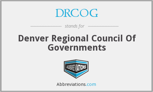 What does DRCOG stand for?