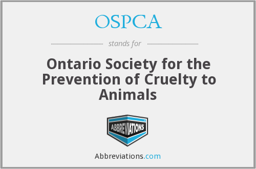 OSPCA - Ontario Society for the Prevention of Cruelty to Animals