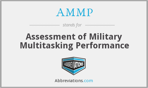 AMMP - Assessment of Military Multitasking Performance
