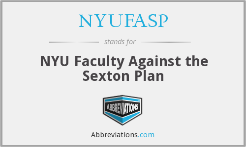 NYUFASP - NYU Faculty Against the Sexton Plan
