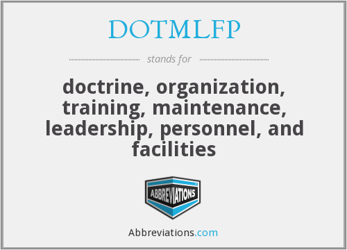 What does DOTMLFP stand for?