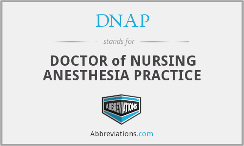 DNAP - DOCTOR of NURSING ANESTHESIA PRACTICE