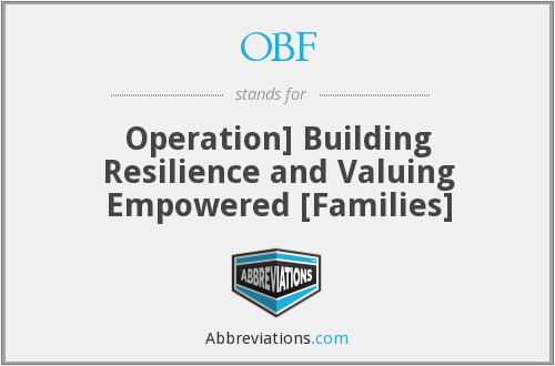 OBF - Operation] Building Resilience and Valuing Empowered [Families]
