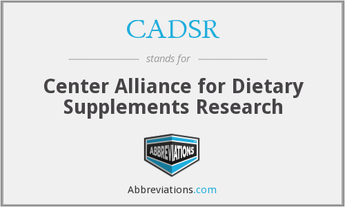 CADSR - Center Alliance for Dietary Supplements Research