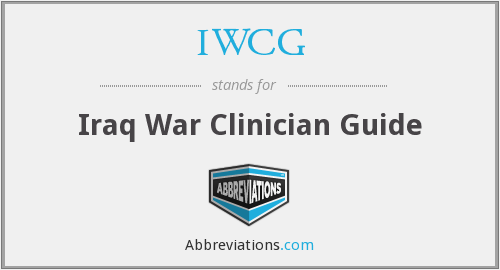 IWCG - Iraq War Clinician Guide