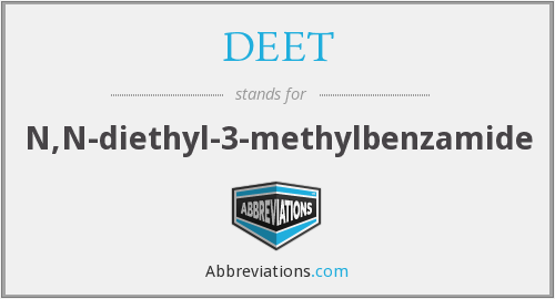 What does DEET stand for?
