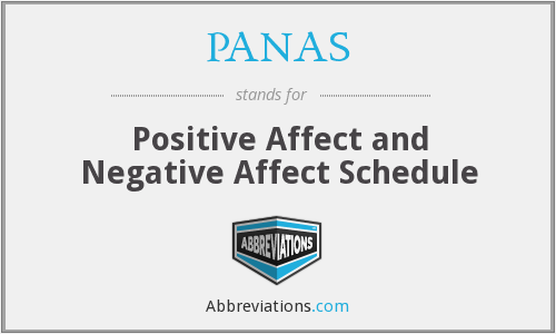 PANAS - Positive Affect and Negative Affect Schedule