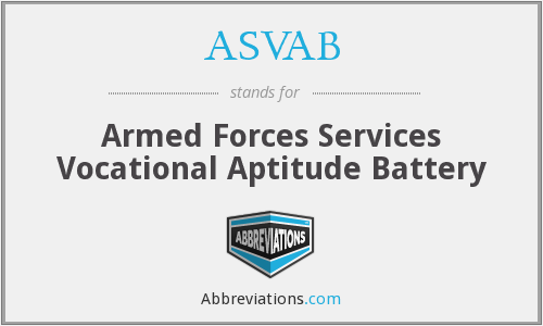 ASVAB - Armed Forces Services Vocational Aptitude Battery
