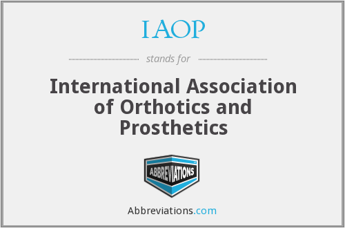 IAOP - International Association of Orthotics and Prosthetics