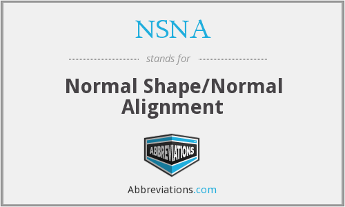 NSNA - Normal Shape/Normal Alignment