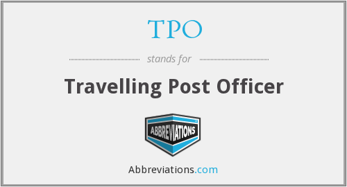 TPO - Travelling Post Officer