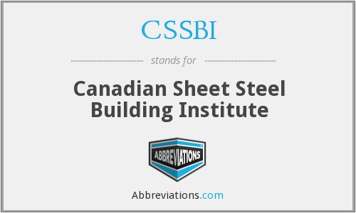 CSSBI - Canadian Sheet Steel Building Institute