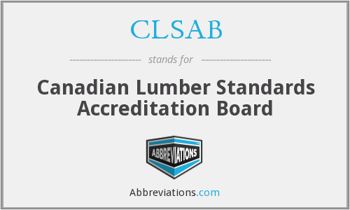 CLSAB - Canadian Lumber Standards Accreditation Board