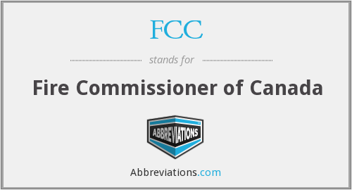 FCC - Fire Commissioner of Canada