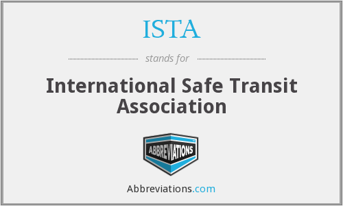 ISTA - International Safe Transit Association