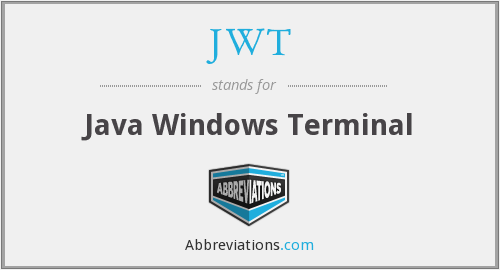 JWT - Java Windows Terminal