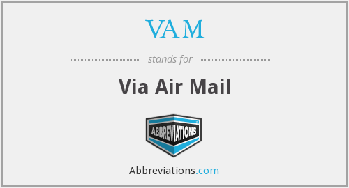 VAM - via air mail