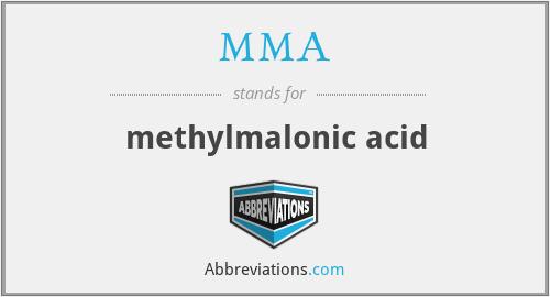 MMA - methylmalonic acid
