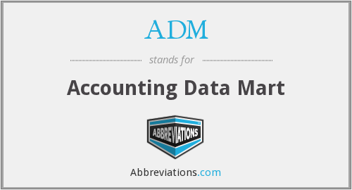 ADM - Accounting Data Mart