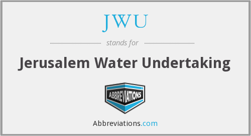 JWU - Jerusalem Water Undertaking
