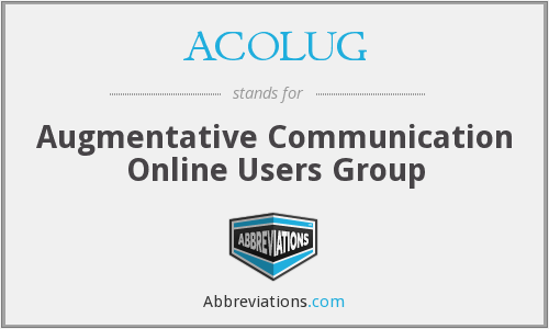 ACOLUG - Augmentative Communication Online Users Group