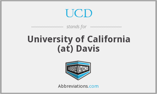 UCD - University of California (at) Davis