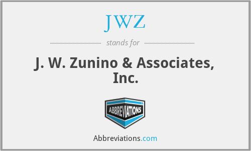 JWZ - J. W. Zunino & Associates, Inc.