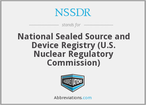 What does NSSDR stand for?
