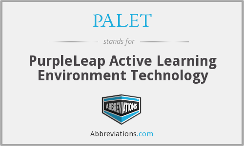 PALET - PurpleLeap Active Learning Environment Technology