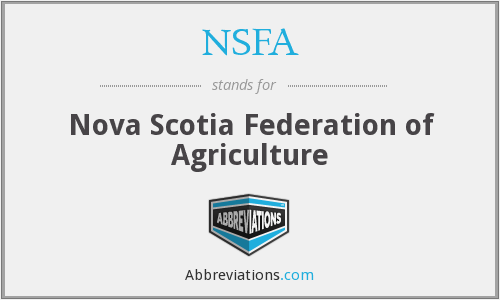 NSFA - Nova Scotia Federation of Agriculture