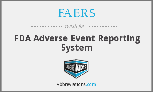 What does FAERS stand for?