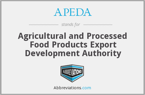 What does APEDA stand for?