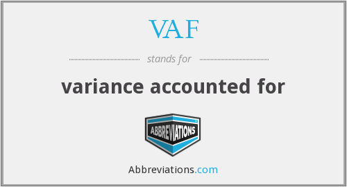 VAF - variance accounted for
