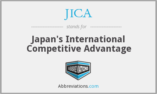 JICA - Japan's International Competitive Advantage