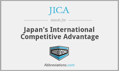 JICA - Japan's International Competitive Advantage