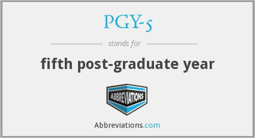 What does PGY-5 stand for?