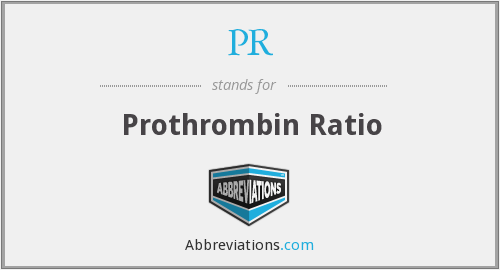 PR - prothrombin ratio