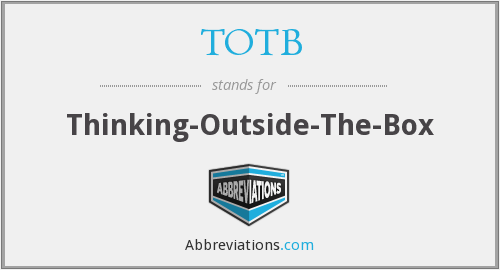 What does TOTB stand for?