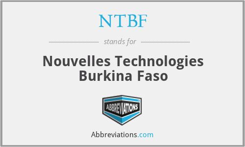 NTBF - Nouvelles Technologies Burkina Faso