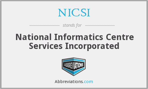 What does NICSI stand for?