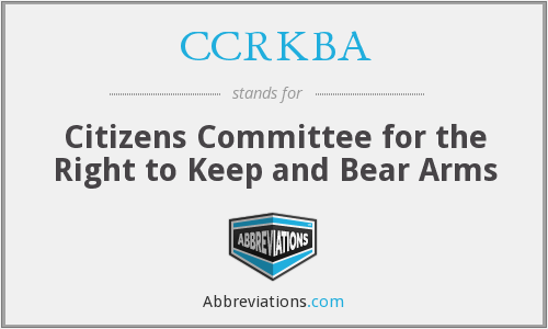 What does CCRKBA stand for?