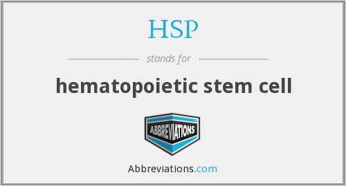 HSP - hematopoietic stem cell